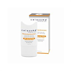 Celazome Moisturizing Sunscreen SPF50 Active Broad Spectrum 2oz