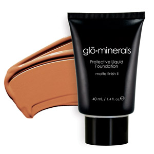 Glo Minerals Liquid Foundation Matte FinishII Honey 40g
