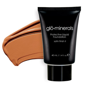 Glo Minerals Liquid Foundation Satin II Beige Med 40g