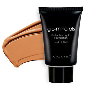 Glo Minerals Liquid Foundation Satin II Beige 40g
