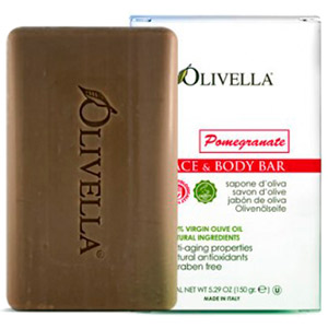 Olivella Pomegranate Face & Body Bar Soap 5.29oz