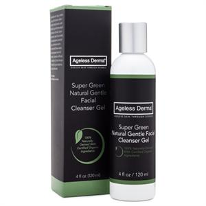 Ageless Derma Super Green Natural Gentle Facial Cleanser Gel 4oz