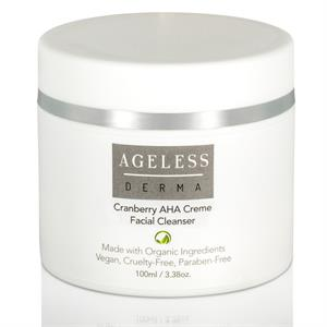 Ageless Derma Cranberry AHA Creme Facial Cleanser 3.38oz